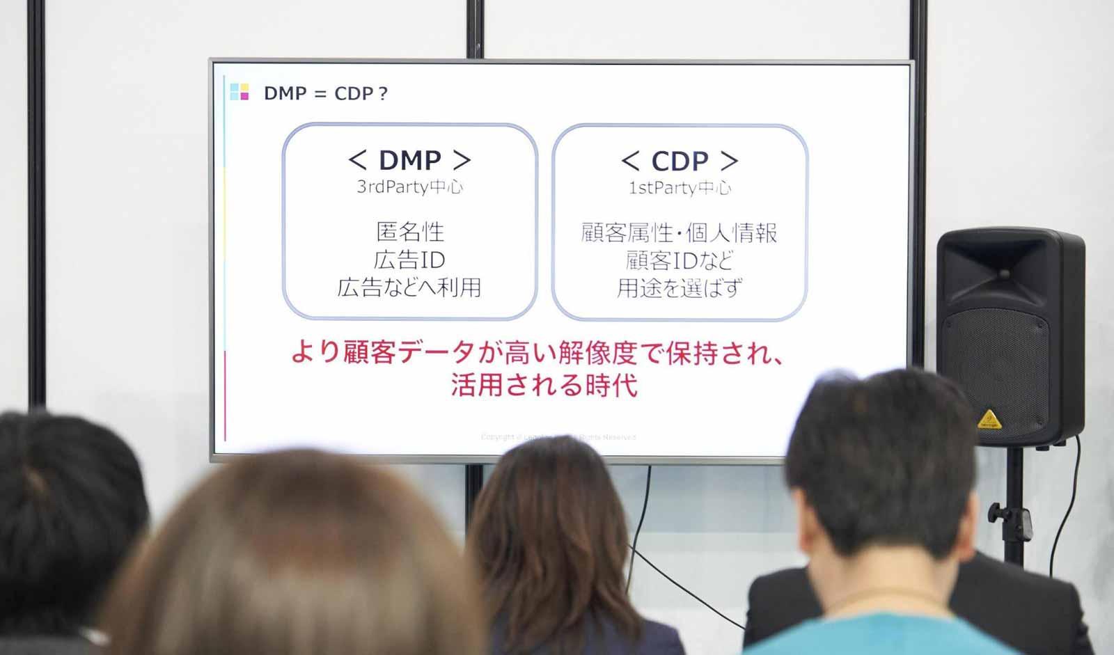 DMP(3rd Party中心:匿名性・広告ID・広告などへの利用) = CDP?(1st PArty中心:顧客属性・個人情報・顧客IDなど・用途を選ばず)より顧客データが高い解像度で保持され、活用される時代