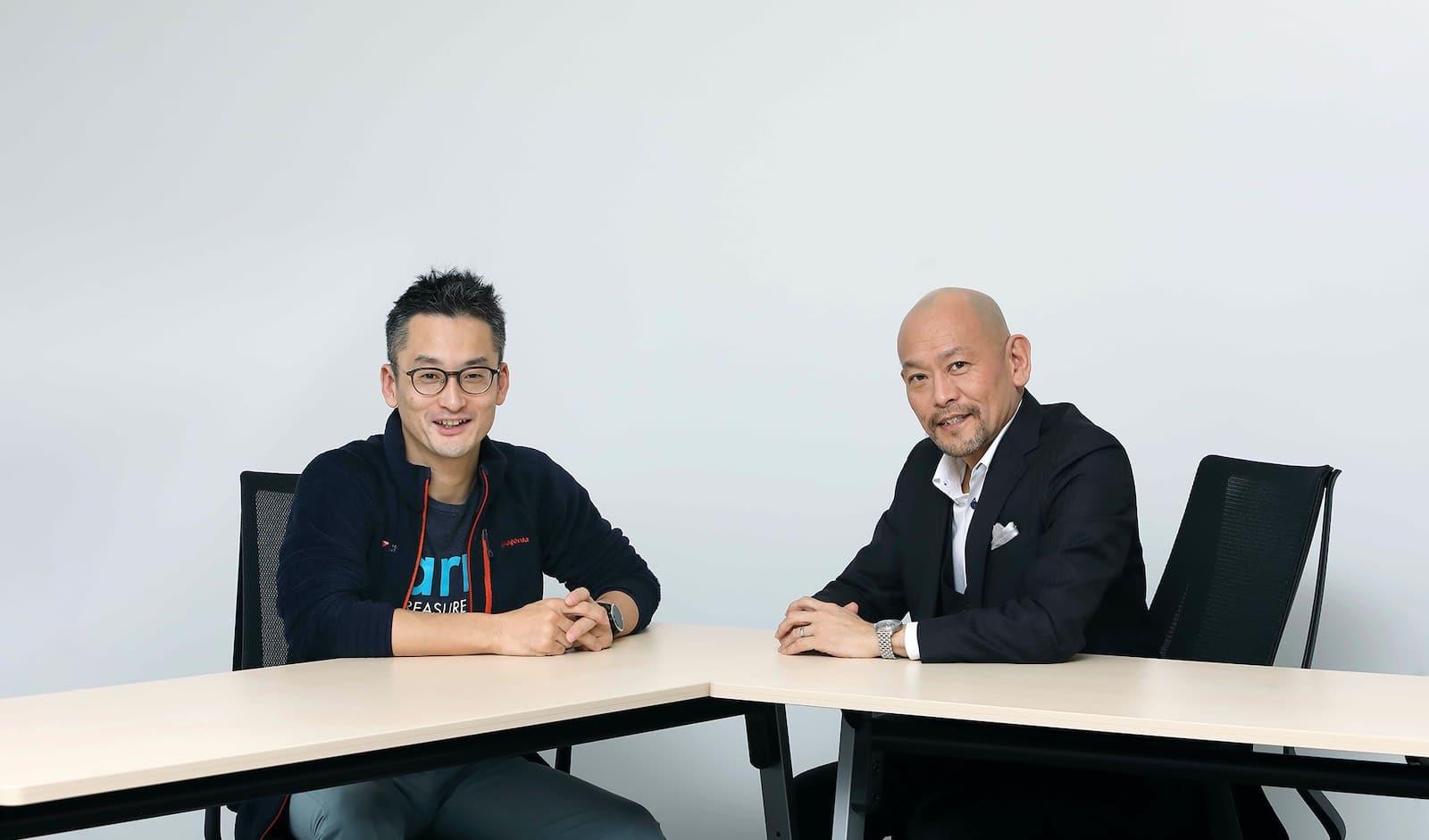 堀内 健后氏(左)と音部 大輔氏(右)