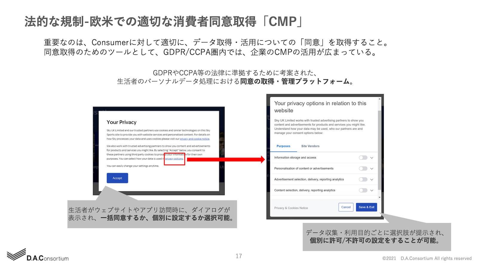 法的な規制-欧米での適切な消費者同意取得「CMP」