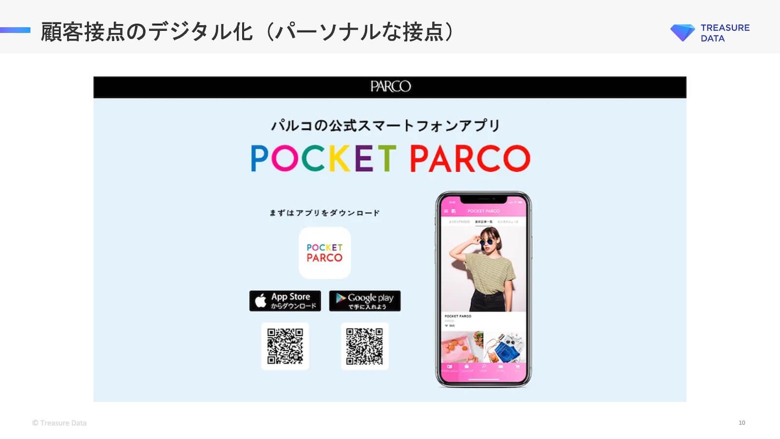 パルコの公式スマートフォンアプリ POCKET PARCO